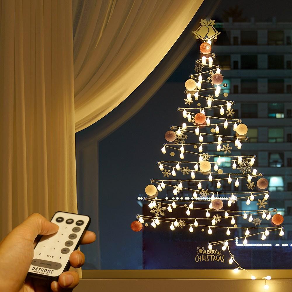 데이홈 스마트 LED벽트리 세트, 웜화이트