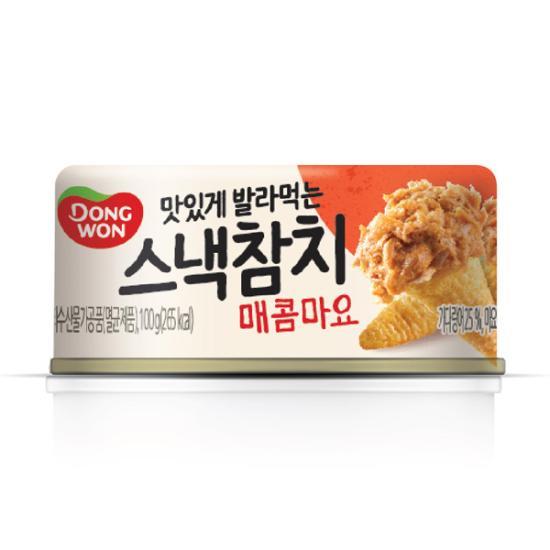 [동원] 스낵참치 매콤마요 100g, 1개