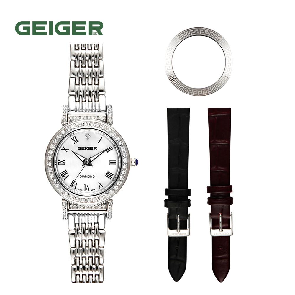 가이거[GEIGER] [본사 정품] 가이거 다이아몬드 여성용 시계 GE1169 WT
