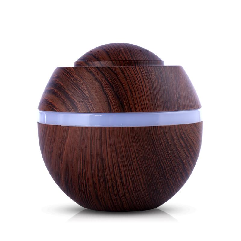 가습기 마카 usb미니 가정용 침실 임산부 소형 진드기방지 사무실, #04-다크나무무늬
