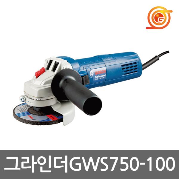 보쉬 GWS750-100 그라인더 4인치 750W 강력형그라인다 바닥연마 철재절단 (POP 332317117)