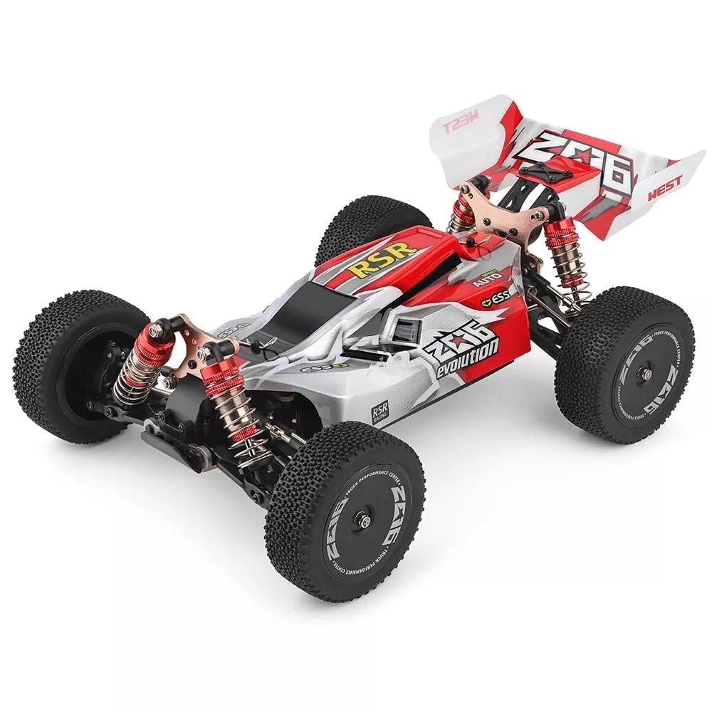 Wltoys 144001 1/14 2.4G RC 버기 4WD 고속 레이싱 RC 자동차 차량 모델 60 km/h RC 레이싱 카 550 모터 RC 오프로드 카 RTR|RC 카|, 1개(A2), red 1B color box(A2), 단일(A2)