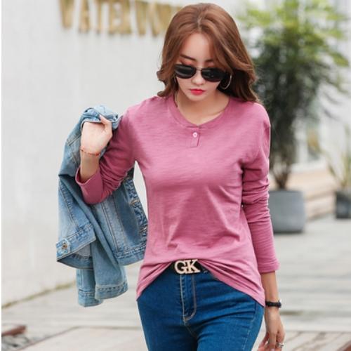 하루네 G1649(사은품증정) 여성 긴팔티셔츠 대나무면 얇은 데일리 긴팔티 긴팔 티셔츠(모든색상 사이즈 다있음)