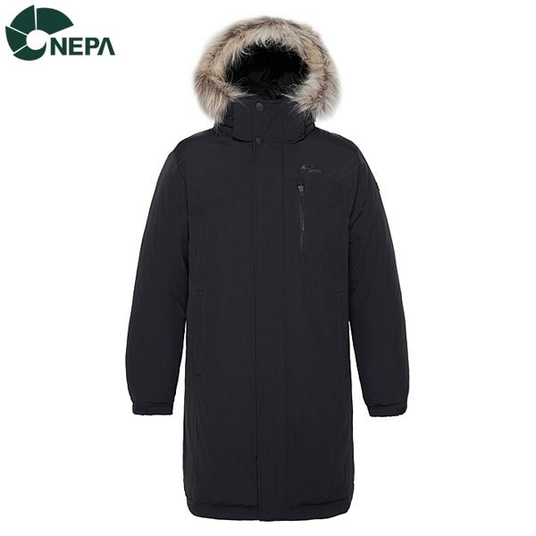NEPA 네파 남성 커넥트 롱 덕다운자켓 블랙 7G72072