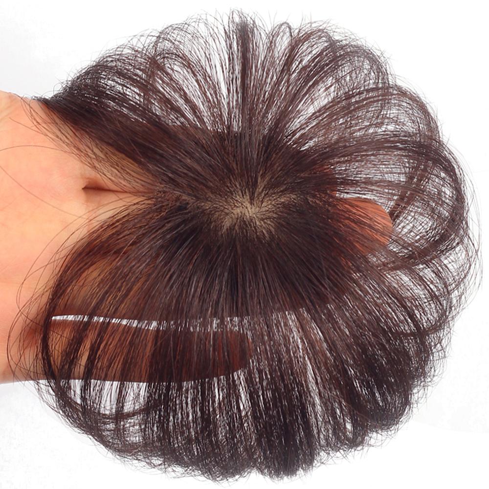 부분가발 여자정수리가발 다크브라운 블랙 10-20cm, 1개, [손으로 펴는 20cm] 다크 브라운
