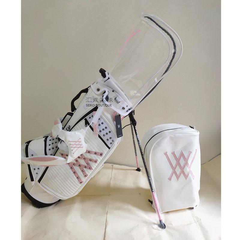 핑크 여성용 경량 골프백 스탠드백 가방 캐디백 경량, 백색 흑색 분말