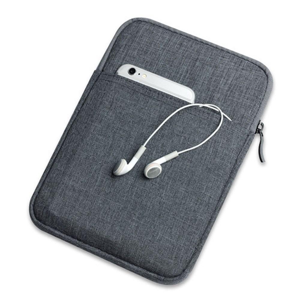헤이맨 갤럭시탭 S7 S6 라이트 극세사 수납 태블릿 파우치 가방, 그레이