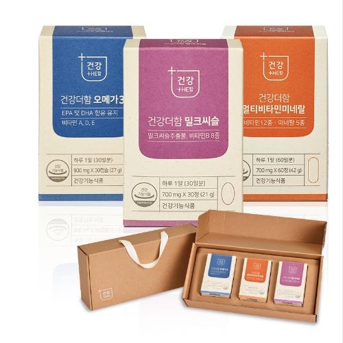 함소아제약 건강더함 건식세트 (밀크씨슬/멀티비타민/오메가)
