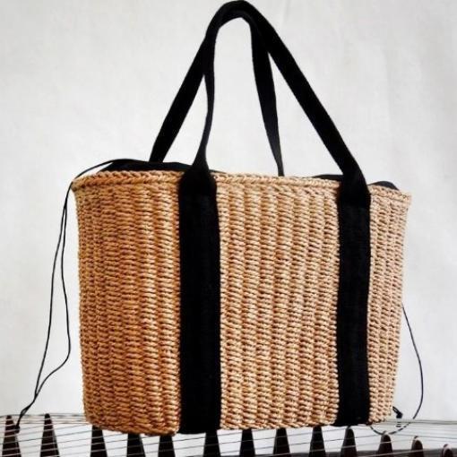 에이티엔 와이프 감각의 리시한 5만원대 선물 패션 비치 왕골가방 E-883207