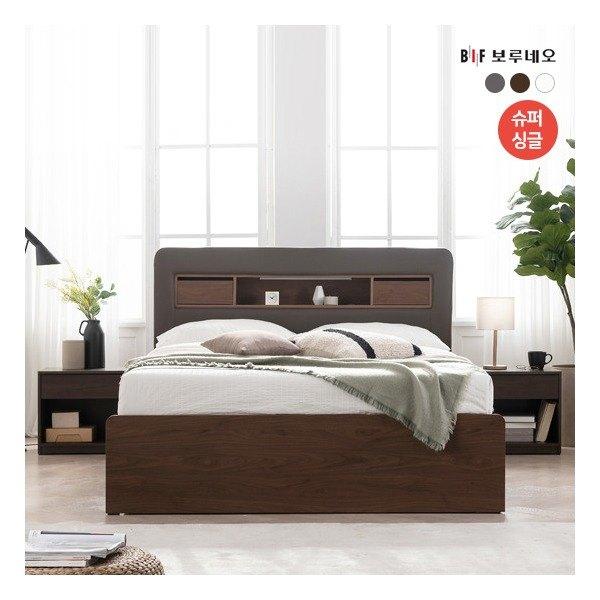 [보루네오] [SS] NEW 필로우탑 LED 수납형 침대, 색상:그레이