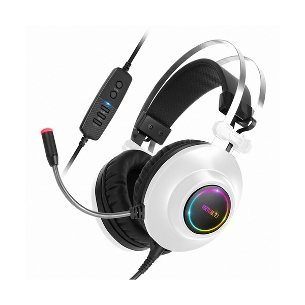 앱코 해커 N550 가상 7.1채널 RGB 게이밍 헤드셋 화이트, 단품-22-5306880391