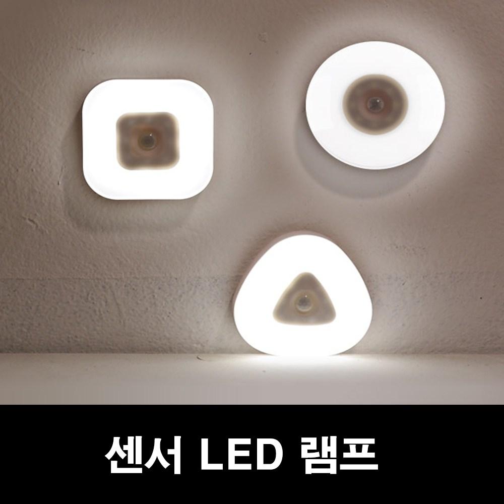 COMS 무선 LED 센서등 동작감지 절전형, 원형(NW280)