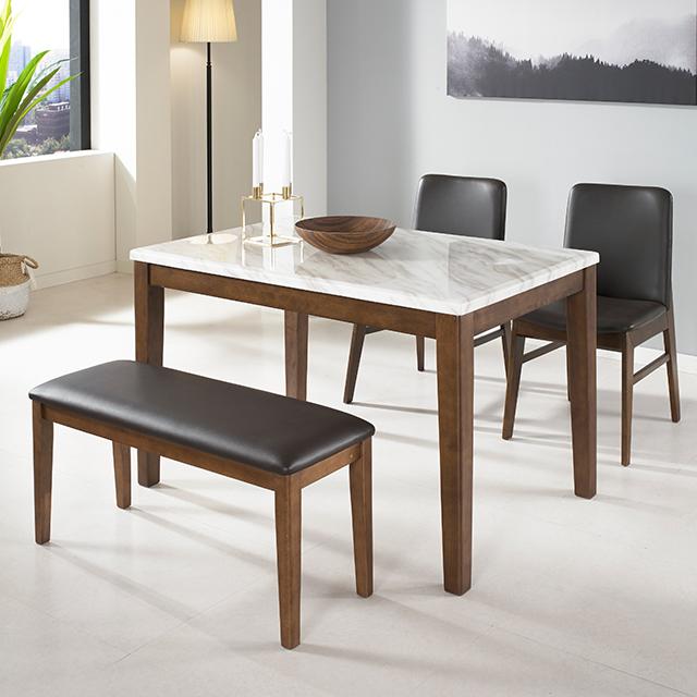 라로퍼니처 로망 대리석 4인용 식탁 세트 원목식탁 4인식탁 식탁세트, 3.단품_4인용 테이블
