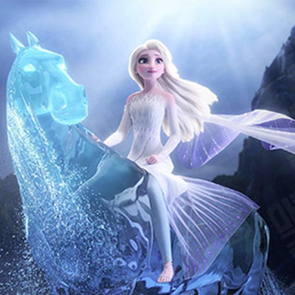 마켓굳음 집에서할수있는취미 집순이 디즈니 겨울왕국엘사 라푼젤 공주 5D 원형 비즈 보석십자수 공예 옵션1, 1개, 60X48cm
