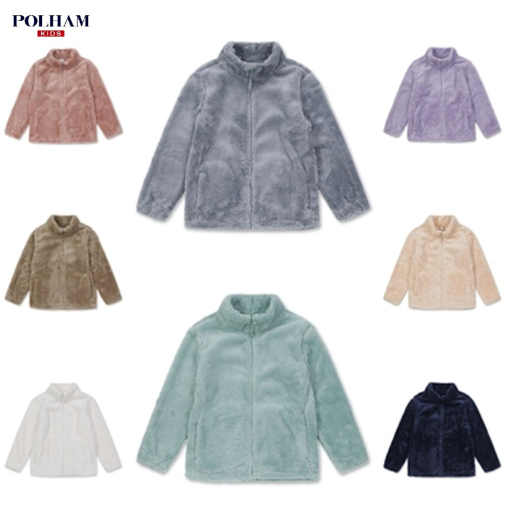 폴햄키즈 최저가!! 겨울 신상품 뽀송뽀송 솜사탕 후리스 집업 (PKA4TC1040A)
