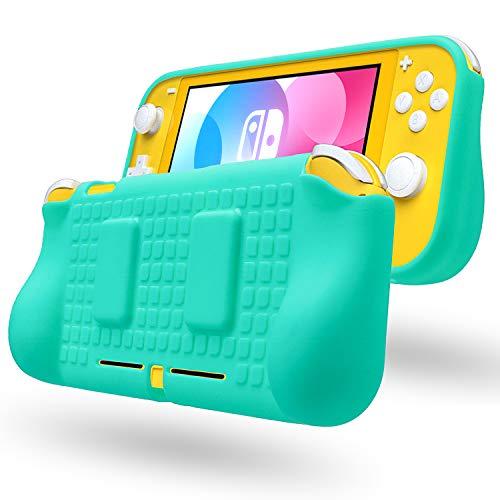 새로운 닌텐도 스위치 라이트 미니 케이스 보호 소프트 실리콘 핸드 그립 스킨 쉘 커버 핸들 홀더 게임 카드 tpu 보호, 1개, Green