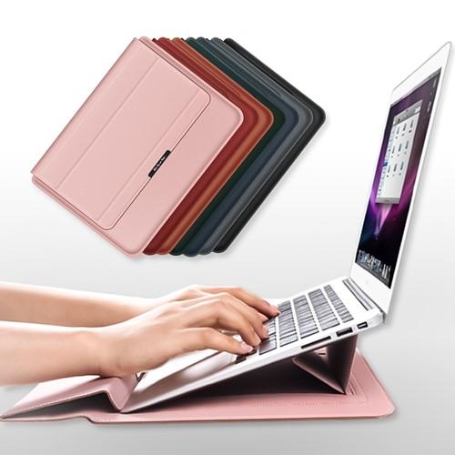 이쿠 15인치 13인치 LG 그램 맥북 프로 삼성 가죽 노트북 파우치 케이스 커버, 13/14인치, 카멜