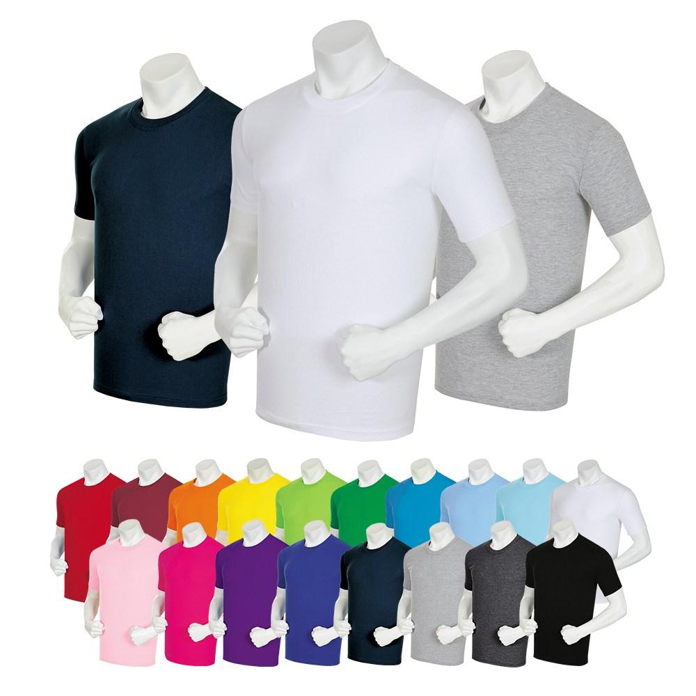 지주컴퍼니 순면 무지 티셔츠 반팔 30수 라운드 기본티 이너웨어 남녀공용 XS~4XL