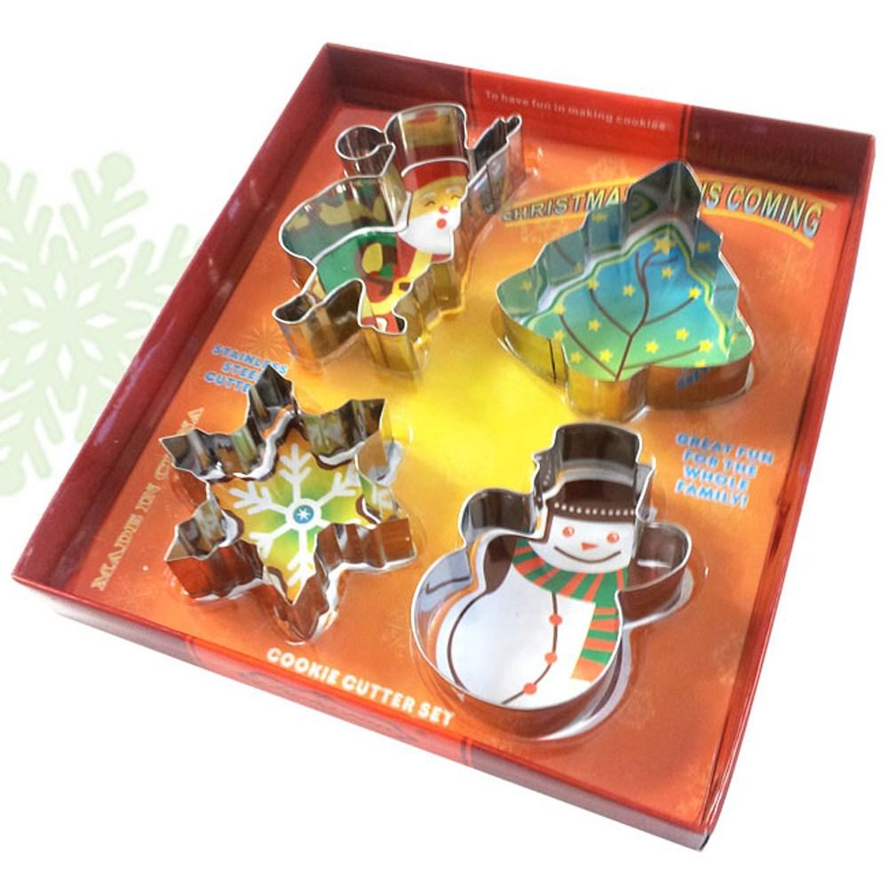 이홈베이킹 쿠키커터세트-크리스마스 4P, 1set
