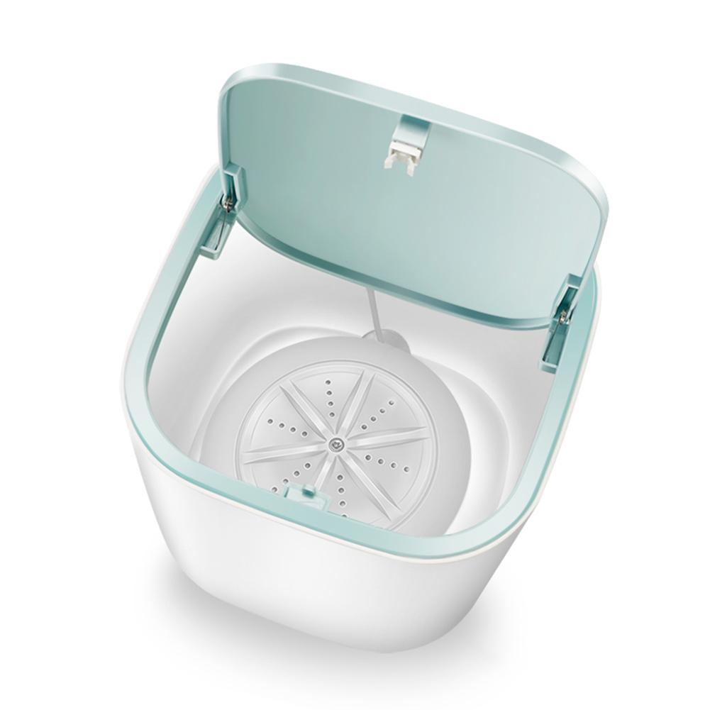 [지다스]가정용 18W 휴대용 미니 세탁기 컨버터블 USB 터보 세탁기Q4531, 화이트
