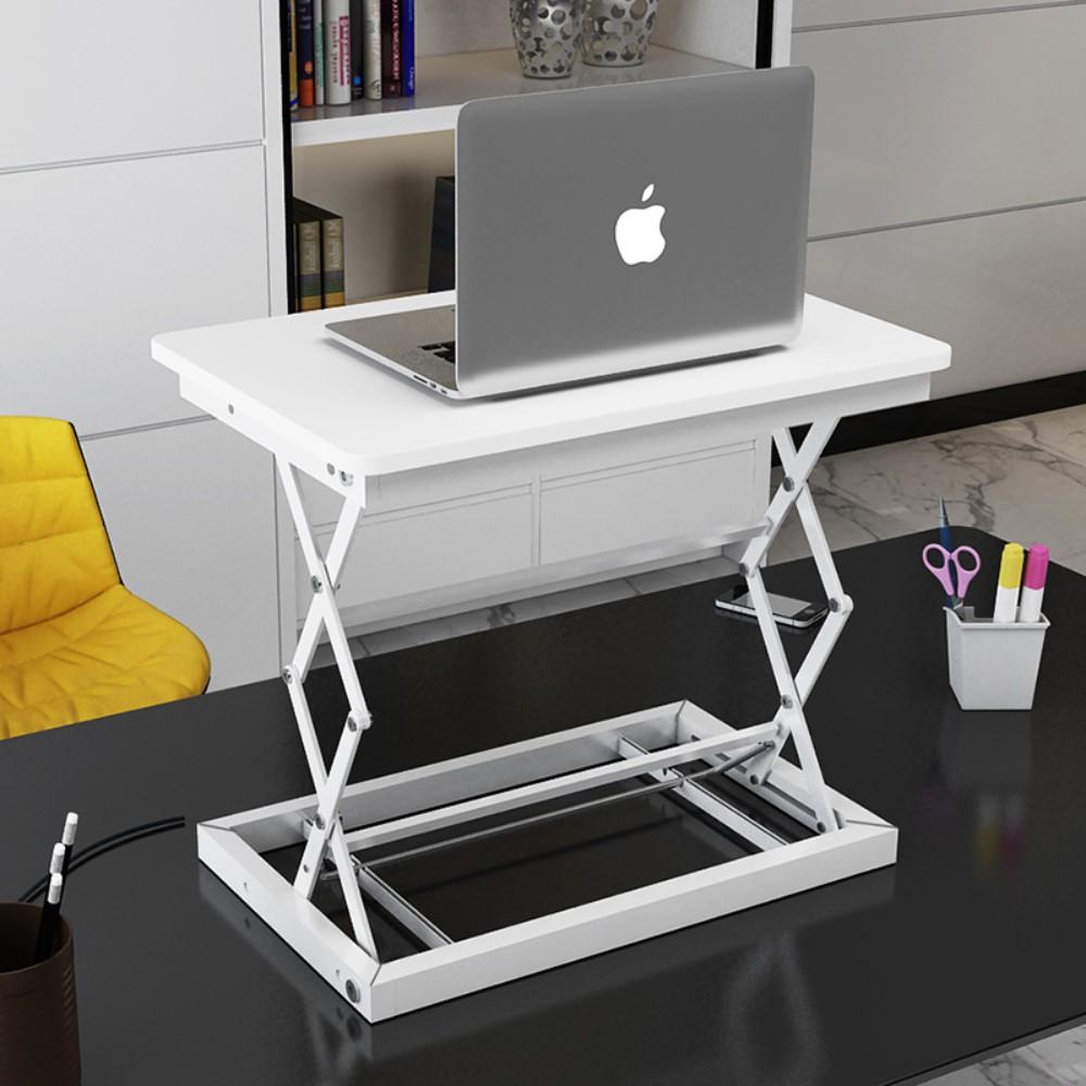 이동식 컴퓨터 책상 접히는 책상 테이블 이동 사무실 작업대, C