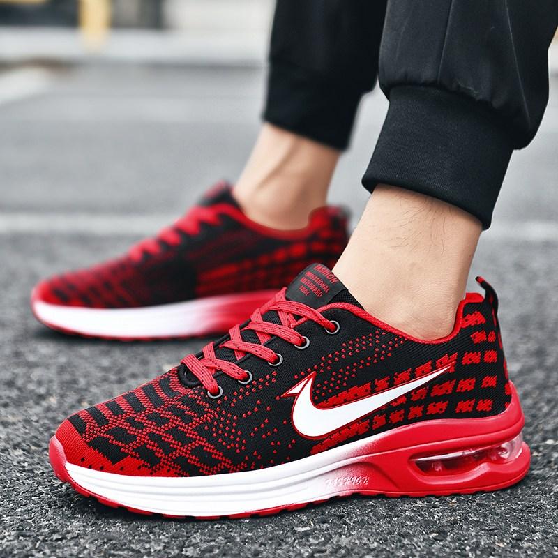 패션 커플 운동화 남녀공용 경량 에어쿠션 신발 발이 편안한 통기성 스포츠 슈즈 A2068