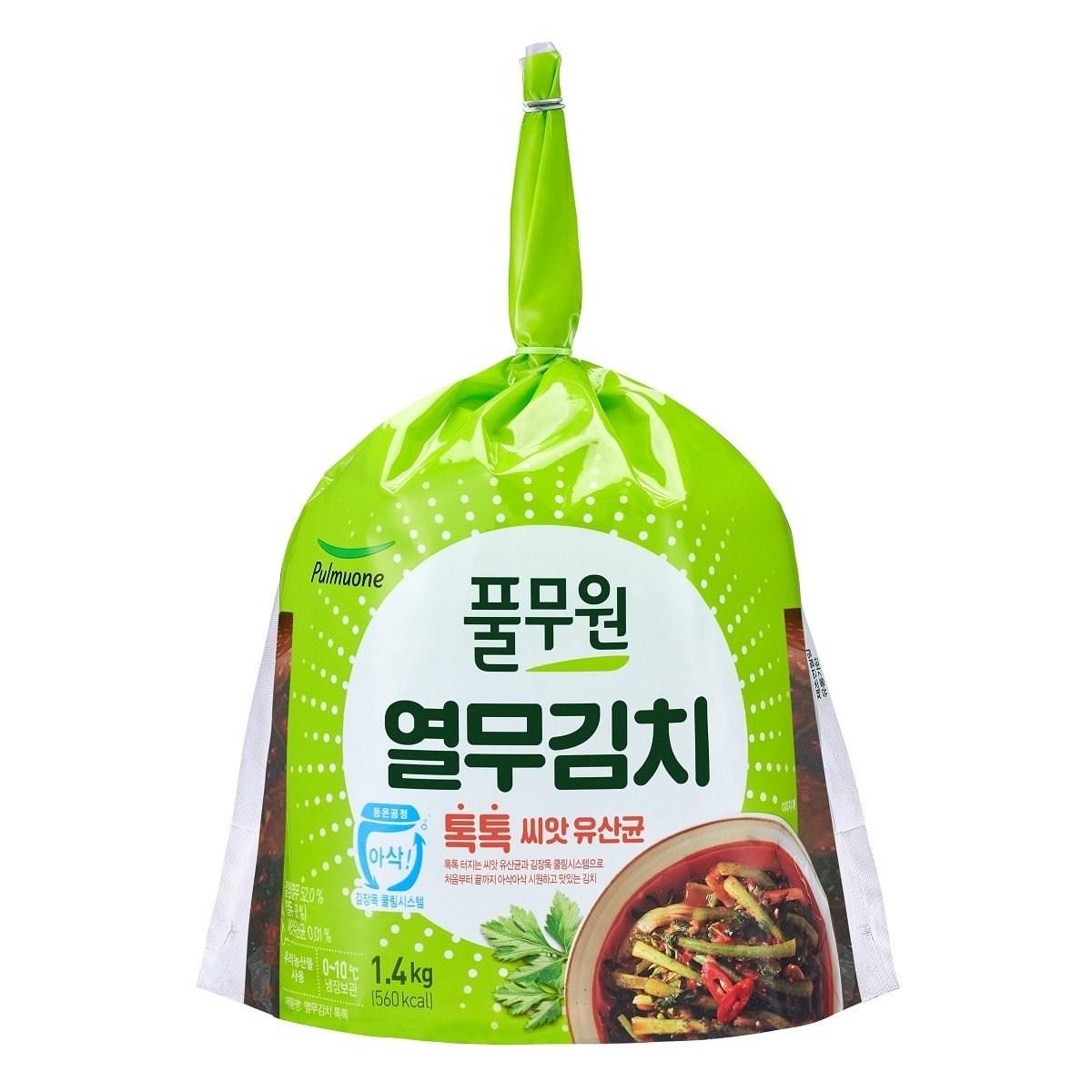 풀무원 유산균 톡톡 열무김치 1.4kg, 1팩