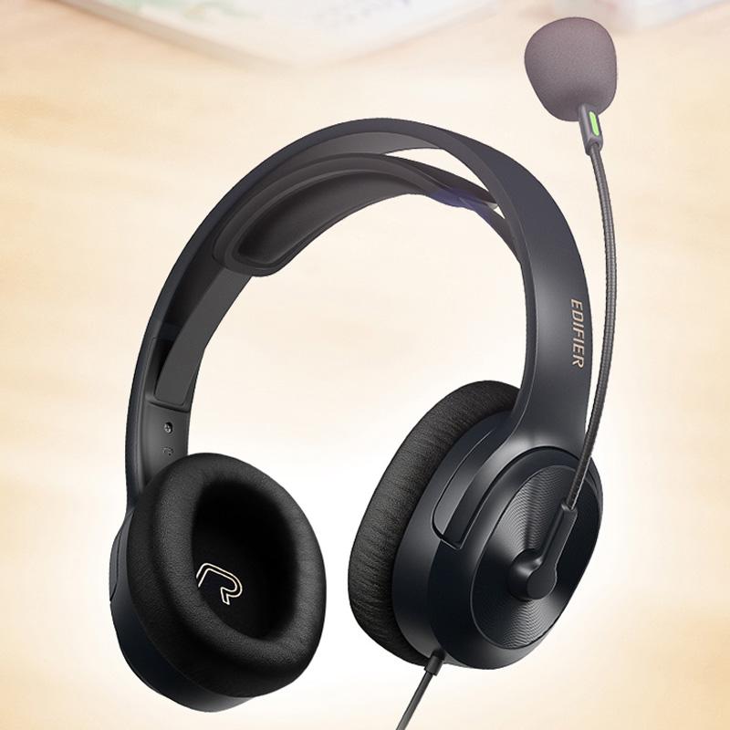 게이밍헤드셋 EDIFIER/EDIFIER중앙 음악 학원 시험 추천 이어폰 K3300업그레이드 USBK5000이어폰 헤드폰 컴퓨터 유선 마이크포함 학생 학습 인터넷강의 사용 K300, C01-공식모델, T01-블랙