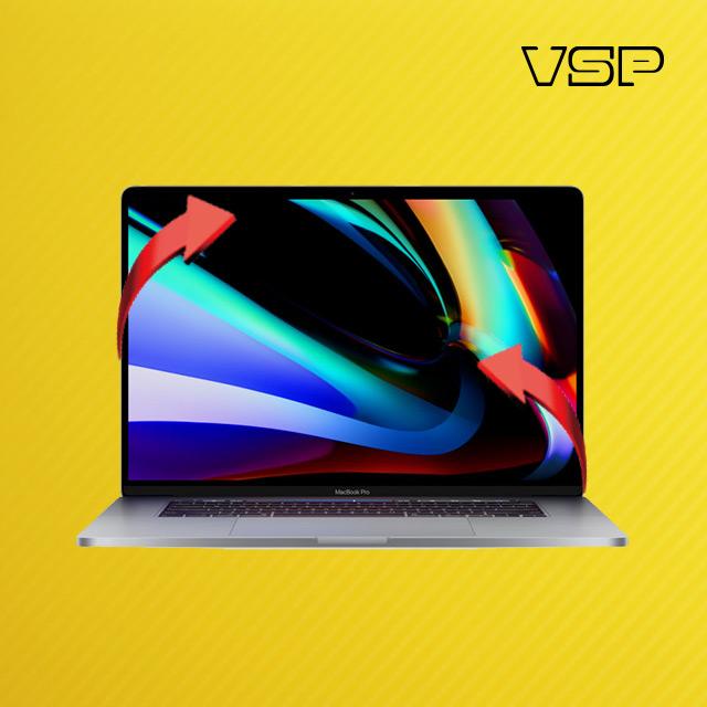 뷰에스피 2020 맥북 프로 16인치 옐로우 카본 스킨 전신 외부 보호필름 각1매, 1개