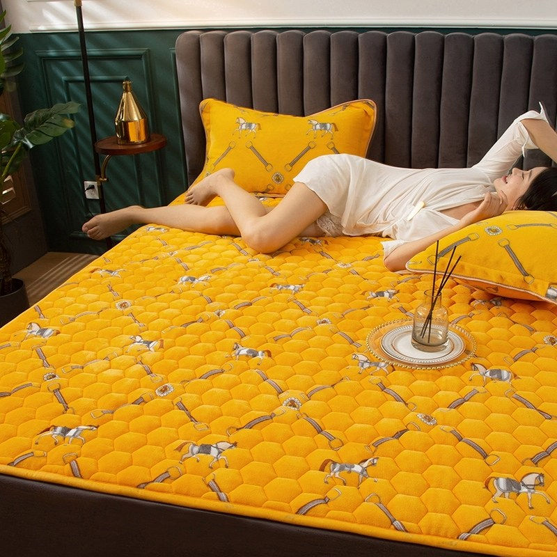 토퍼 템퍼 매트리스 침구 기타 겨울 기모 쿠션 학생 기숙사 싱글 담요 침대, AL_0.9 x 2m