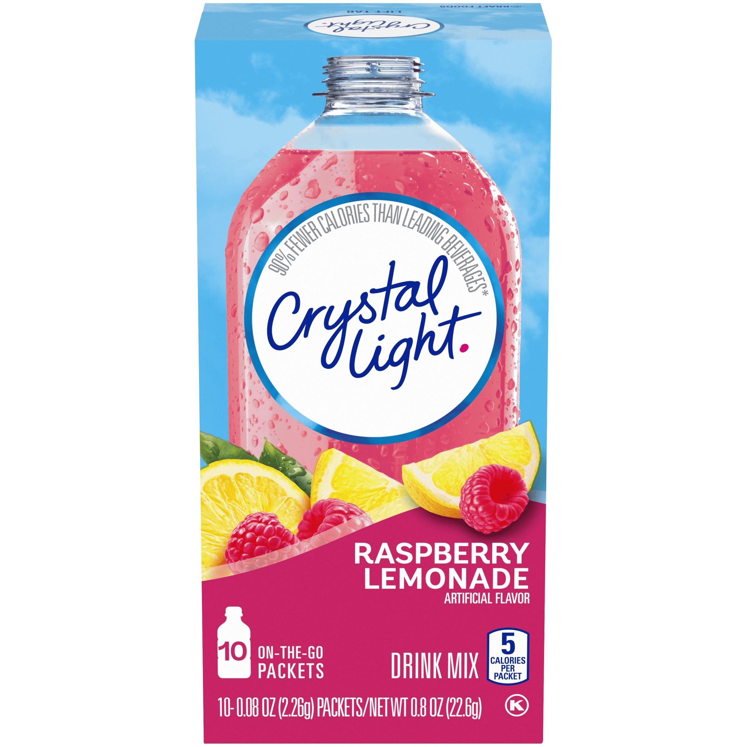 Crystal Light 드링크 믹스 라즈베리 레모네이드 10개입, 22.6g, 1개