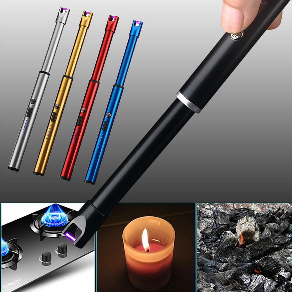 [이즈마트] 컬러 플라즈마 토치 라이터 촛불 숯불 가스 점화, 토치라이터-실버