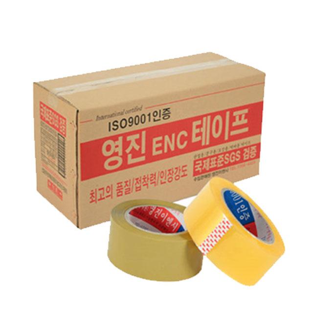 영진이엔시 경포장 박스테이프 투명 80M 무료배송, 50개