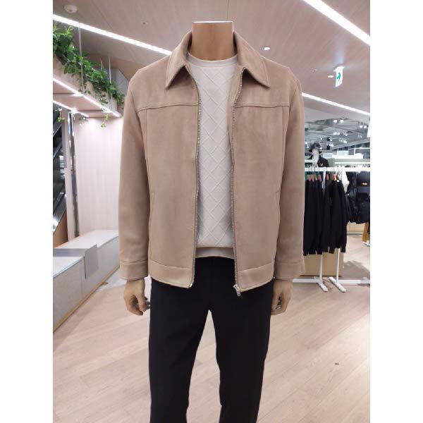 [현대백화점]테이트(KAAW9-MGJ030)F W 남성 2컬러 레귤러핏 집업 스웨이드 자켓