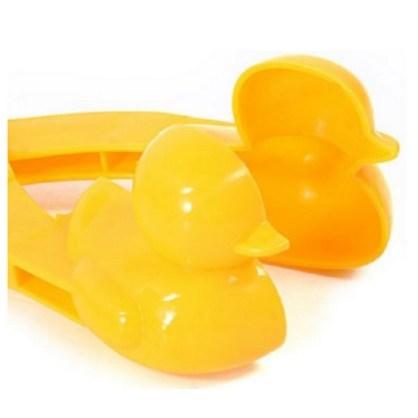 오리 눈사람 집게 스노우볼 메이커 눈사람 만들기 눈뭉치 제조기, 노랑오리