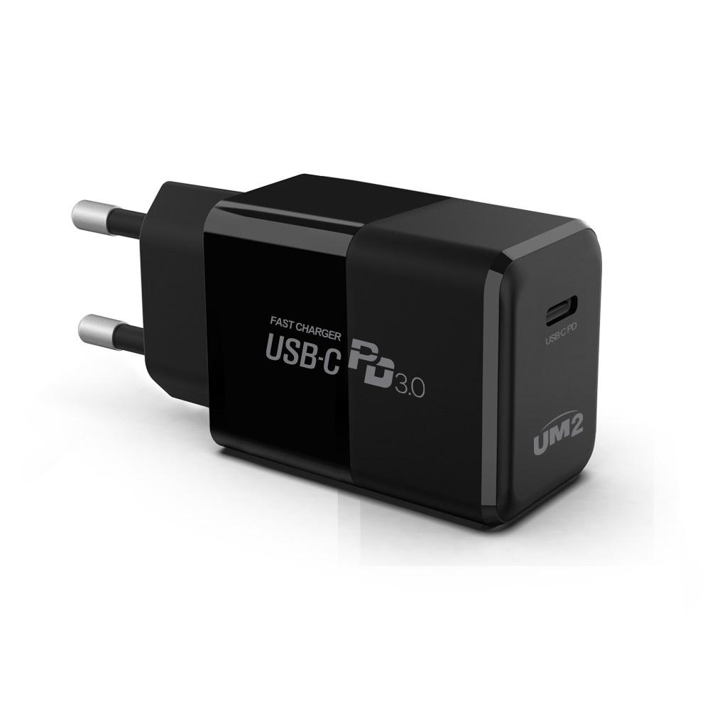 UM2 PD30Wmini C타입PD고속충전기 PPS25W 삼성노트10 PD고속충전기 1개 블랙