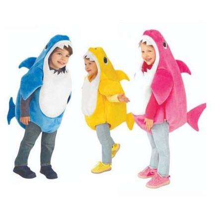 귀욥뽀짝 아기상어 상어가족 코스튬 할로윈 코스프레 의상 할로윈데이 의상 소품 분장 파티용품 풍퐁 아기상어