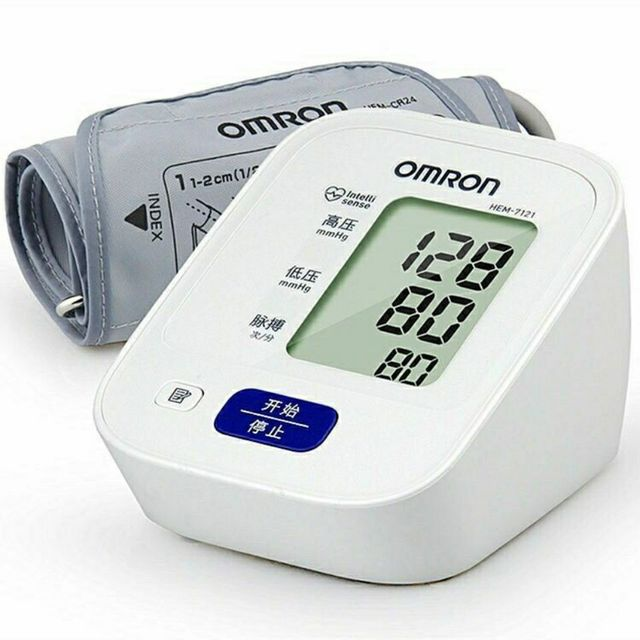 오므론 상완식 자동전자 혈압계 HEM-7121 옴론 가정용 혈압체크기
