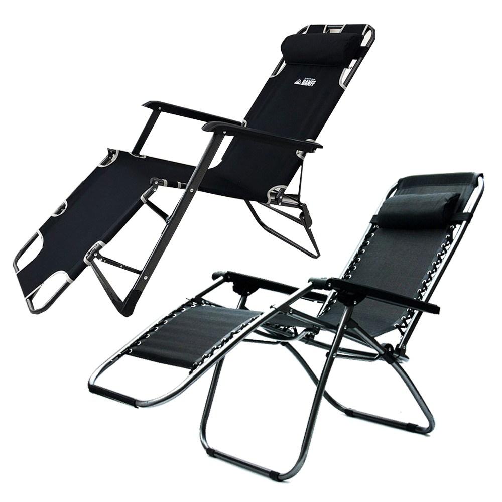 사니사니 리클라이너 침대 접이식 1인용 안락의자, 밴프 무중력의자 블랙