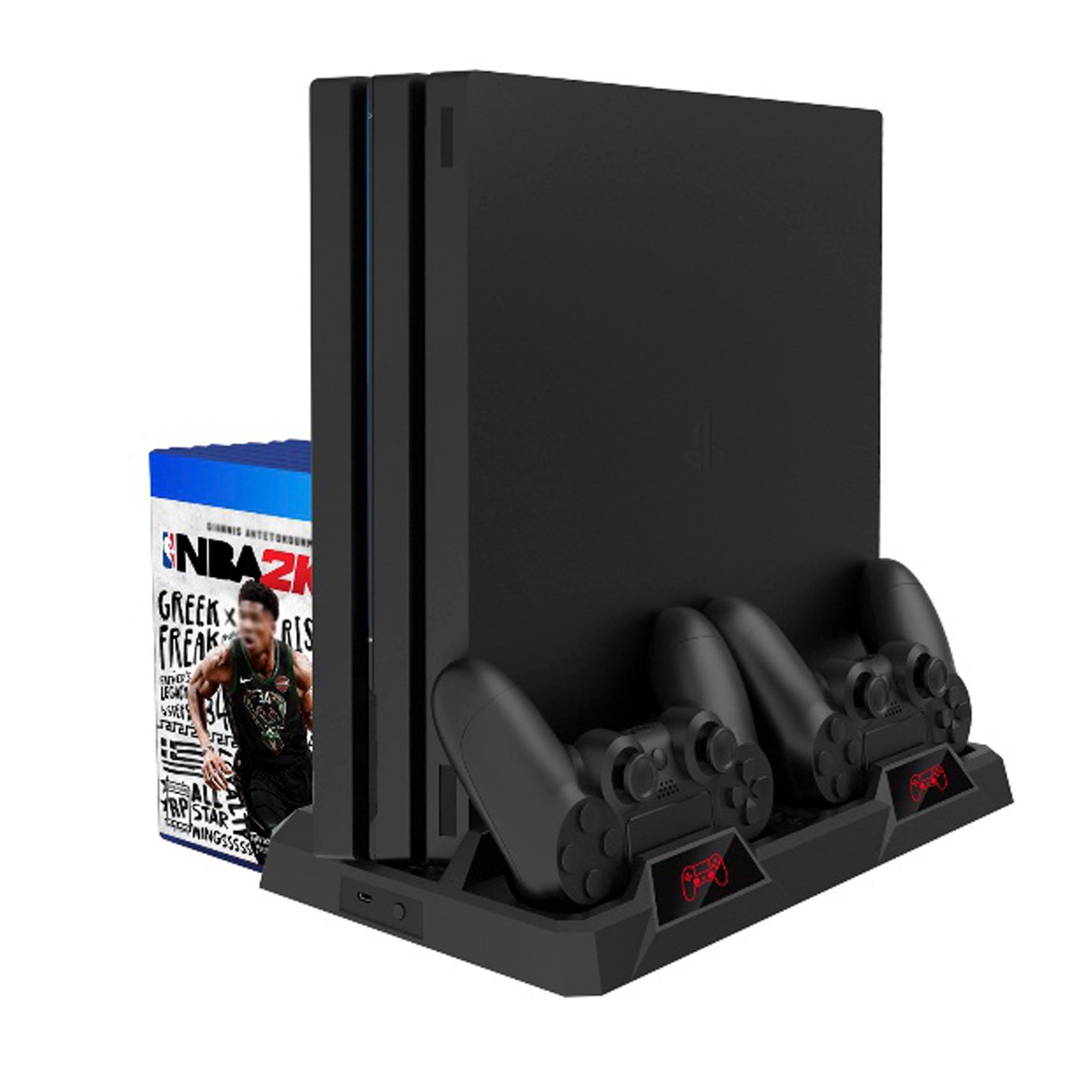P4 series PS4 무선도킹 쿨링 듀얼쇼크 충전스탠드 플스4 프로 슬림 전기종 호환, 1개, FP4-18119 충전 스탠드 거치대
