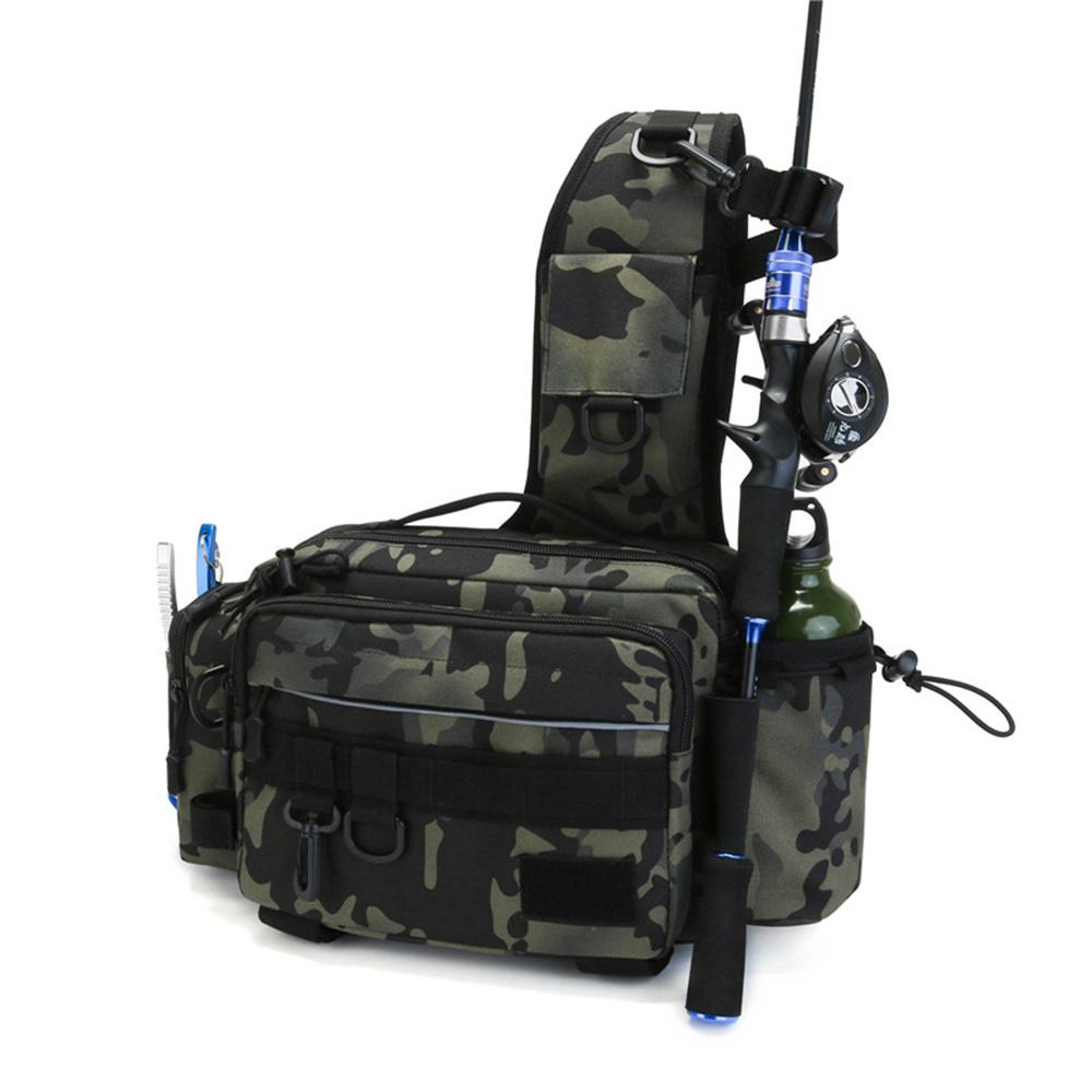 다기능 슬링백 베이트 배스 루어 낚시 가방 릴 용품, 밀리터리-5-5381579012