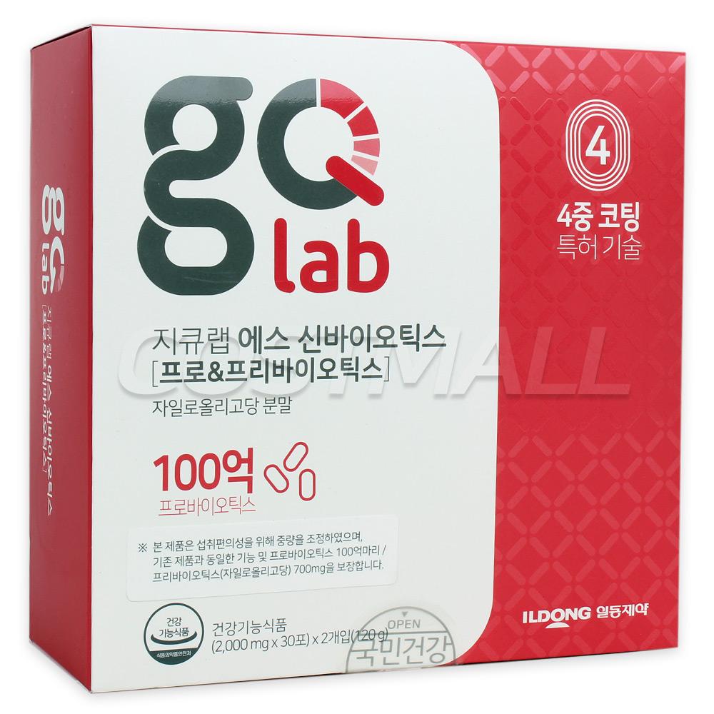 지큐랩 에스 신바이오틱스 유산균 2000mg x 60포, 1팩