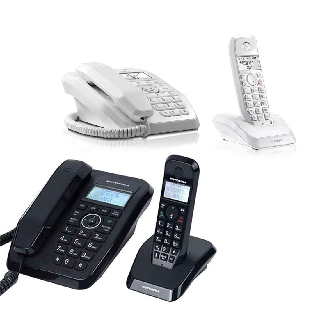 모토로라 유무선 녹음 전화기 SC250A, 블랙