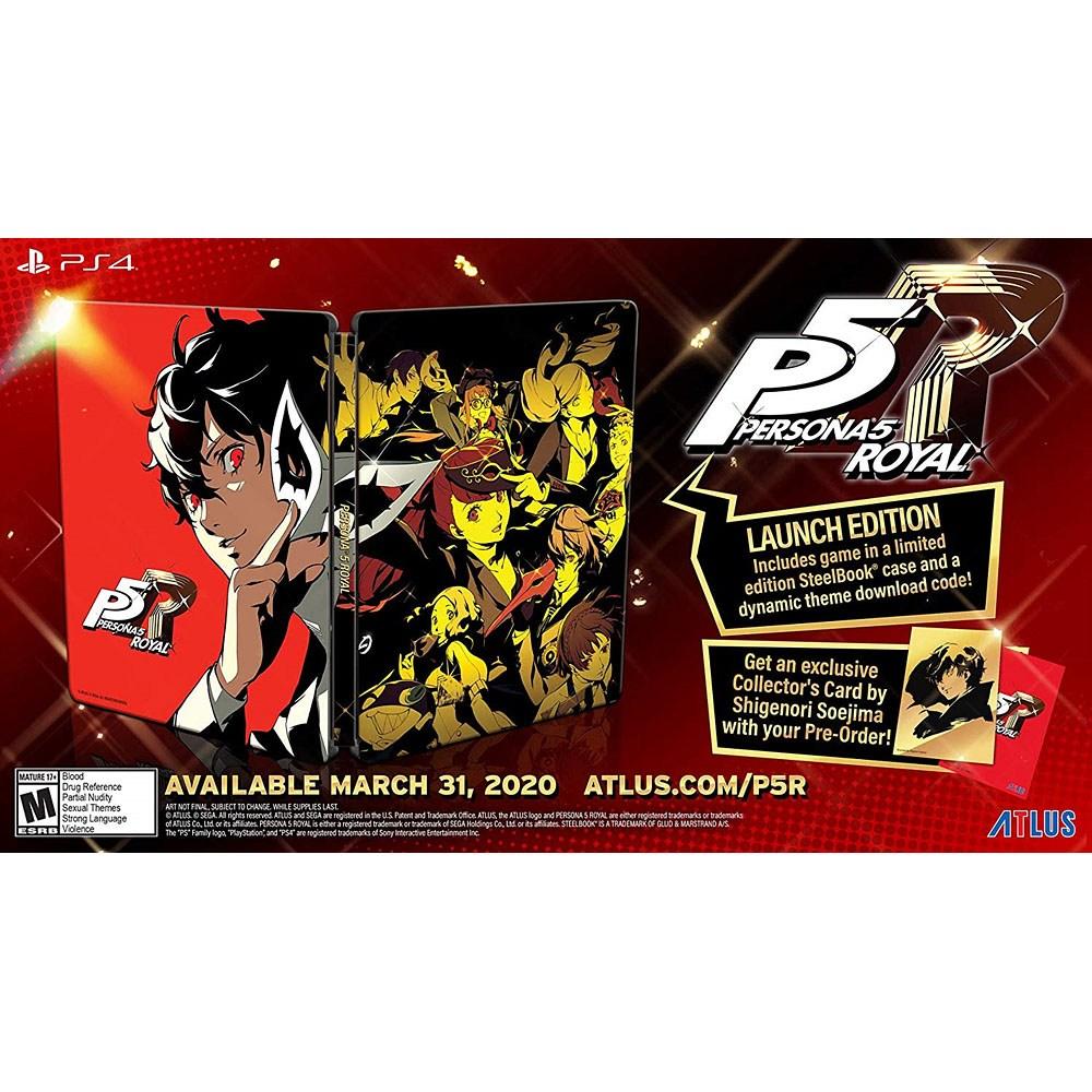 페르소나 5 더 로열 스틸북 에디션 - PS4, 단일상품