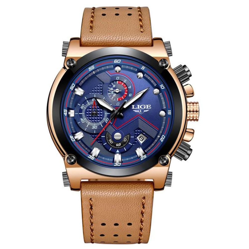 BOYZHE 남성 시계 방수 크로노 그래프 스테인레스 남자 명품 브랜드 패션