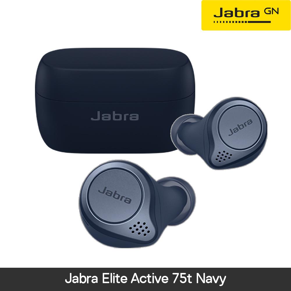 [사은품증점][국내정품][방수기능]자브라 Jabra Elite Active 75t Navy 블루투스 무선이어폰, 민트
