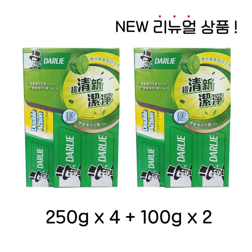 홍콩 달리치약 더블액션 더블민트 250G 4개 100G 2개, 단일상품