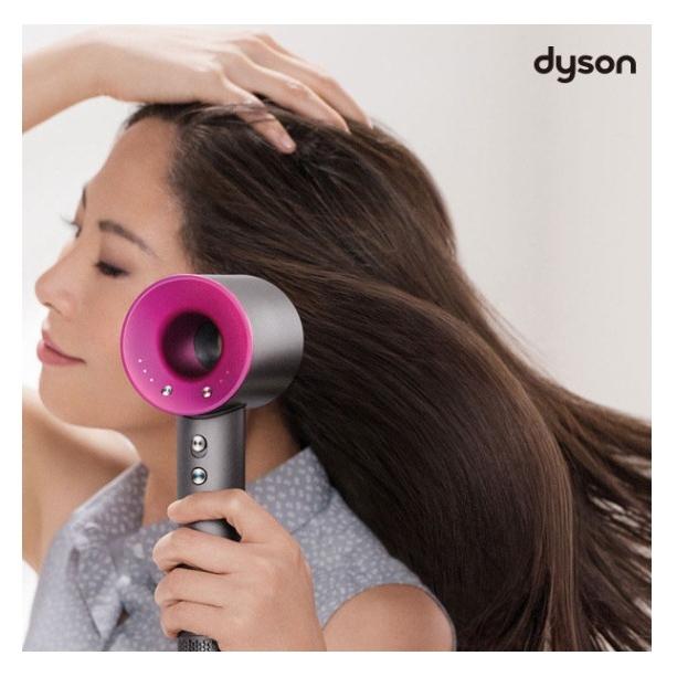 다이슨 슈퍼소닉 헤어드라이기 핑크 3단풍량 4단계 온도조절 외부쿨버튼 무게 770g 열제어장치 소형V9모터