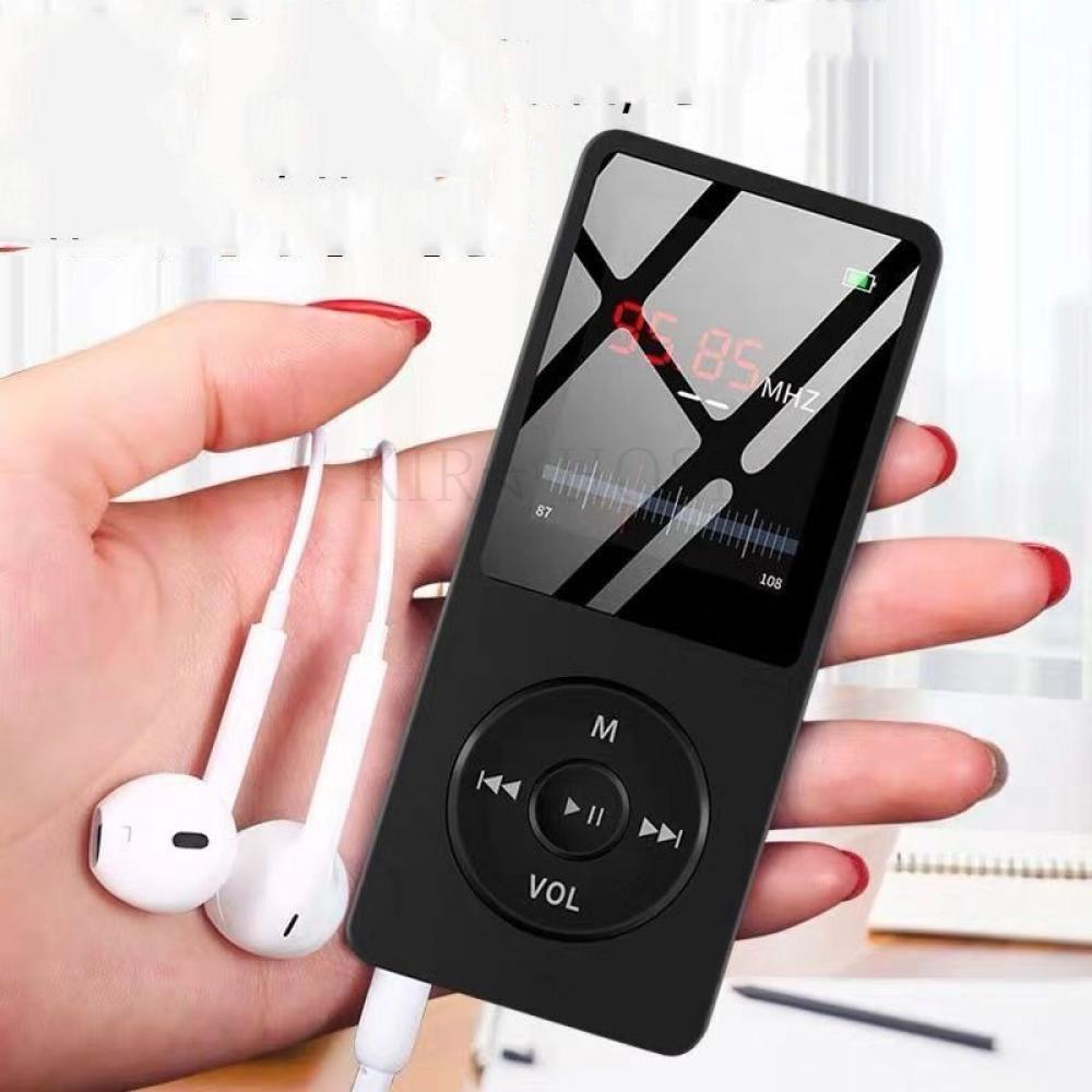 kirahosi 휴대용 소형 mp3 음악 미니 mp3 플레이어 초소형 134 MV 11 BPl8mhcz, 블랙A, 16GB