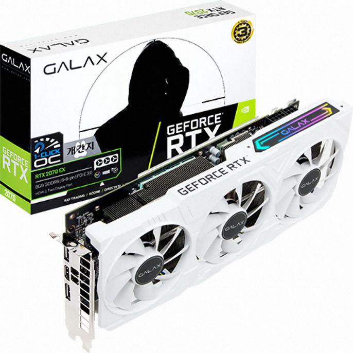 GALAX 지포스 RTX 2070 개간지 EX D6 8GB gtx1660슈퍼/1660super/그랙픽카드/gtx1060/rtx2070super/rtx2060super/rx580/rx570/그래픽카드rtx2060/rx570, 단일 모델명/품번